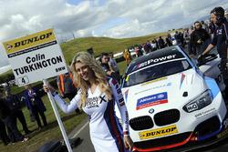 Grid girl of Colin Turkington, West Surrey Racing BMW 125i M Sport