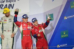 LMGTE Pro Podium: third place #71 AF Corse Ferrari 488 GTE: Davide Rigon, Sam Bird