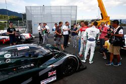 Guy Smith, Tom Kristensen and the Bentley Speed 8 LMP1 that they shared to victory at Le Mans in 200