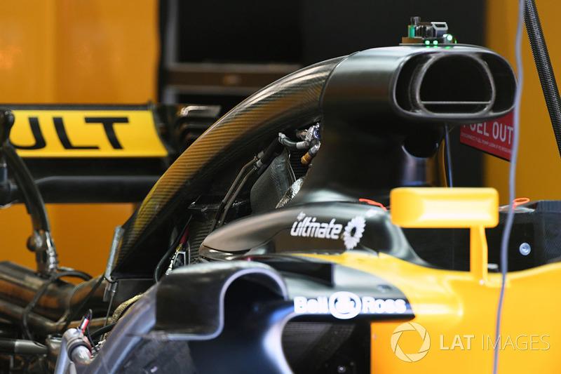 Renault Sport F1 Team hava girişi detayı