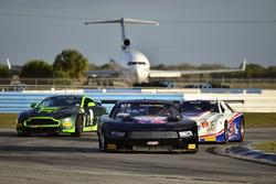#12 TA Ford Mustang, Steve Burns, #2 TA3 Aston Martin Vantage GT4, Steven Davidson, #19 TA Cadillac