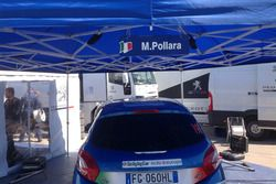 Peugeot 208 R2B di Marco Pollara Marco Pollara e Giuseppe Princiotto nel parco assistenza Peugeot Sp