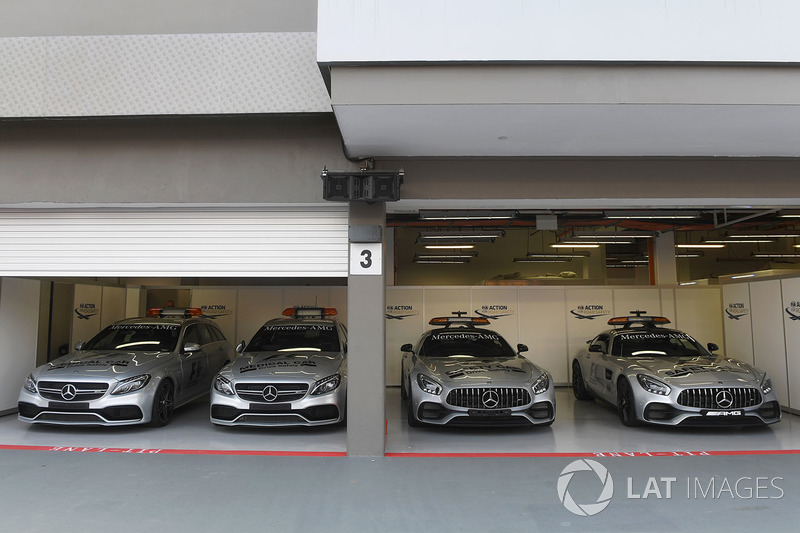 Medical car and Safety cars in the garage