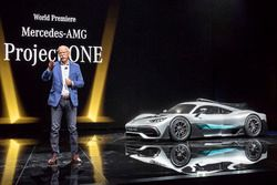 Dr. Dieter Zetsche, Chairman of the Board of Management of Daimler AG and Head of Mercedes-Benz Cars, presents the show car Mercedes-AMG Project ONE