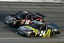 Justin Haley, GMS Racing Chevrolet and Noah Gragson, Kyle Busch Motorsports Toyota