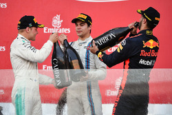 Valtteri Bottas, Mercedes AMG F1, Lance Stroll, Williams and Daniel Ricciardo, Red Bull Racing celeb