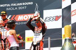 Podio: tercer lugar Marco Melandri, Ducati Team