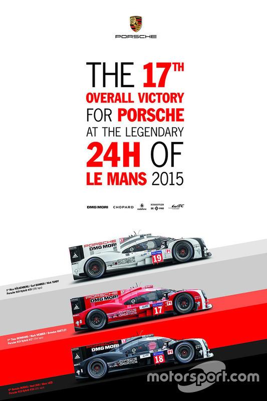 Poster: Porsche-Sieg bei den 24h Le Mans 2015