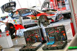 De wagen van Jari-Matti Latvala, Miikka Anttila, Toyota Yaris WRC, Toyota Racing
