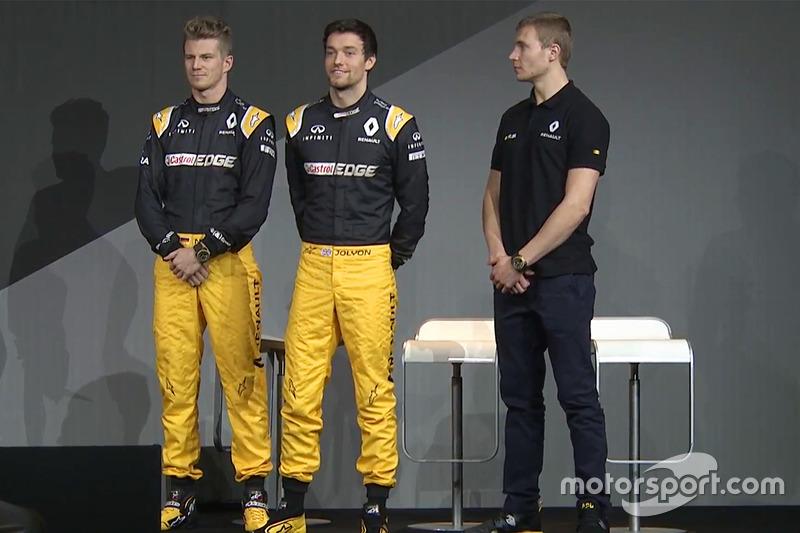 Hülkenberg, Palmer en Sirotkin bij de Renault-launch