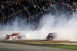 Crash: Matt Tifft, Joe Gibbs Racing Toyota and Brandon Hightower, Toyota