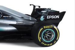 L'arrière de la Mercedes AMG F1 W08