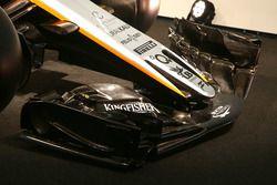 Detalle del ala delantera del Sahara Force India VJM10