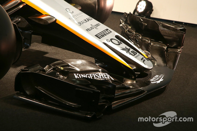 L'aileron avant de la Sahara Force India VJM10
