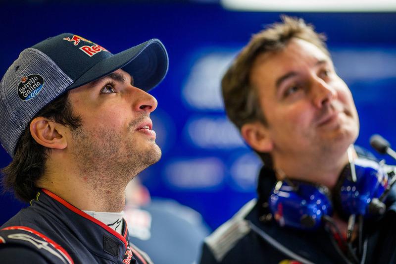 Carlos Sainz Jr., Scuderia Toro Rosso, James Key, Scuderia Toro Rosso Technical Director