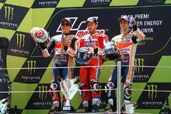 Podium: second placde Marc Marquez, Repsol Honda Team, Race winner Andrea Dovizioso, Ducati Team, th