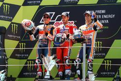 Podium: 1. Andrea Dovizioso, Ducati Team; 2. Marc Marquez, Repsol Honda Team; 3. Dani Pedrosa, Repsol Honda Team
