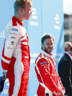 Nick Heidfeld, Mahindra Racing, sul podio