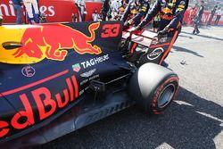 Max Verstappen, Red Bull Racing RB13, dettaglio del posteriore