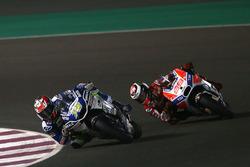 Loris Baz, Avintia Racing; Jorge Lorenzo, Ducati Team