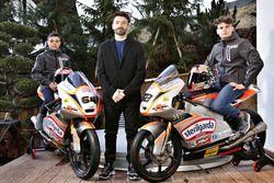 Max Biaggi mit Davide Baldini und Alessandro Del Bianco
