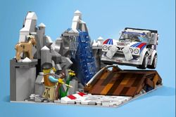 Lancia Delta S4 in LEGO