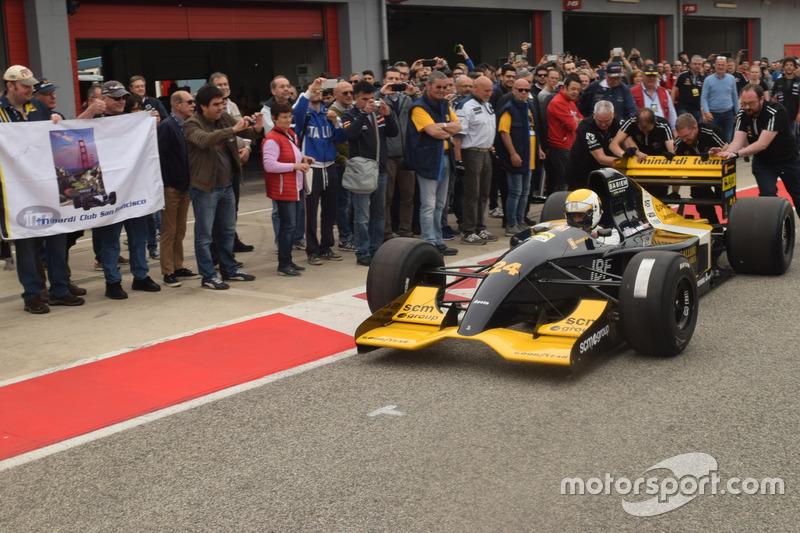Gian Carlo Minardi met de M192-Lamborghini