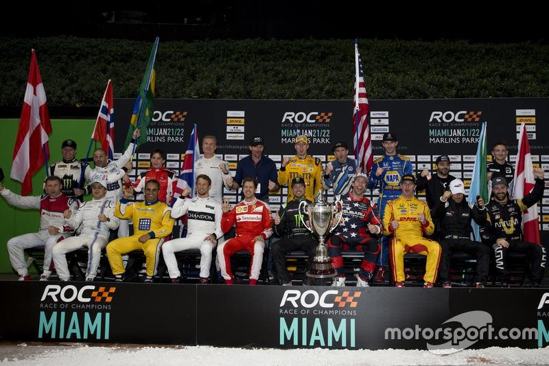 Foto de familia de los pilotos de ROC 2017