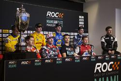 La conférence de presse avec Sebastian Vettel, Travis Pastrana, Pascal Wehrlein, Tom Kristensen, Juan Pablo Montoya, Ryan Hunter-Reay, Alexander Rossi, Scott Speed, Stefan Rzadzinski