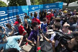 Jose Maria Lopez, DS Virgin Racing, Spark-Citroen, Virgin DSV-02 e Robin Frijns, Amlin Andretti Formula E Team, Spark-Andretti, ATEC-02
