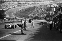 View from the pits to Eau Rouge