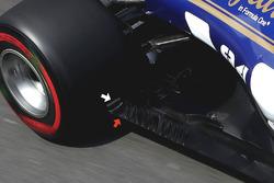 Sauber C36 tyre squirt