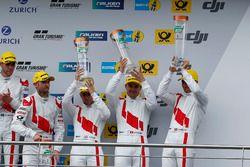 Podium: third place #9 Audi Sport Team WRT, Audi R8 LMS: Nico Müller, Marcel Fässler, Robin Frijns, René Rast
