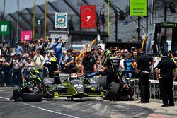 Charlie Kimball, Chip Ganassi Racing Honda, competencia de pit stop