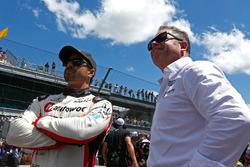 Oriol Servia, Rahal Letterman Lanigan Racing Honda visita de Mike Shank