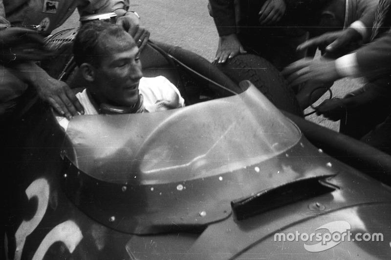 Stirling Moss, Maserati 250F, GP de Italia de 1956