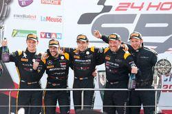 Pro-Am Podium: Race winner #16 Black Falcon Mercedes-AMG GT3: Oliver Morley, Miguel Toril, Maximilia