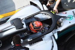 George Russell, Mercedes-Benz F1 W08, mit Halo