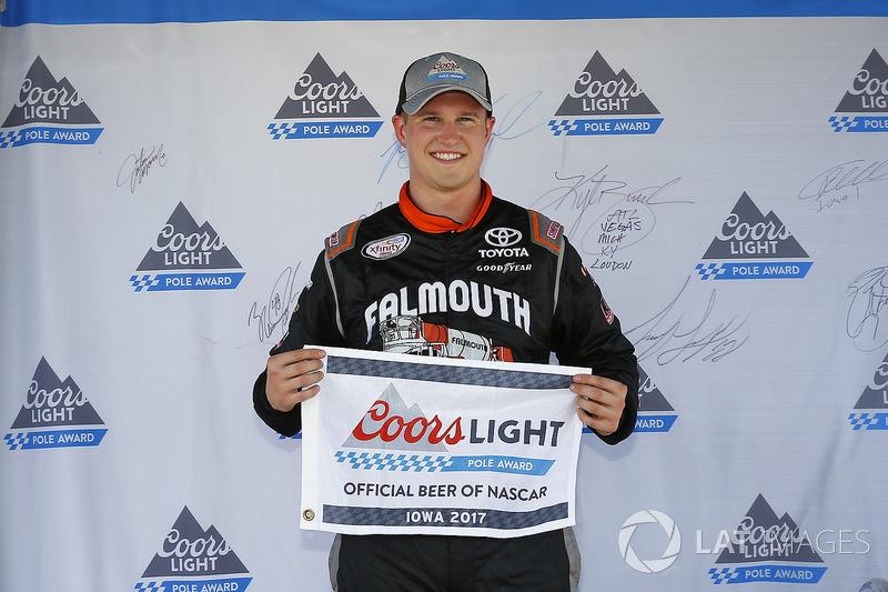Ganador de la pole Ryan Preece, Joe Gibbs Racing Toyota