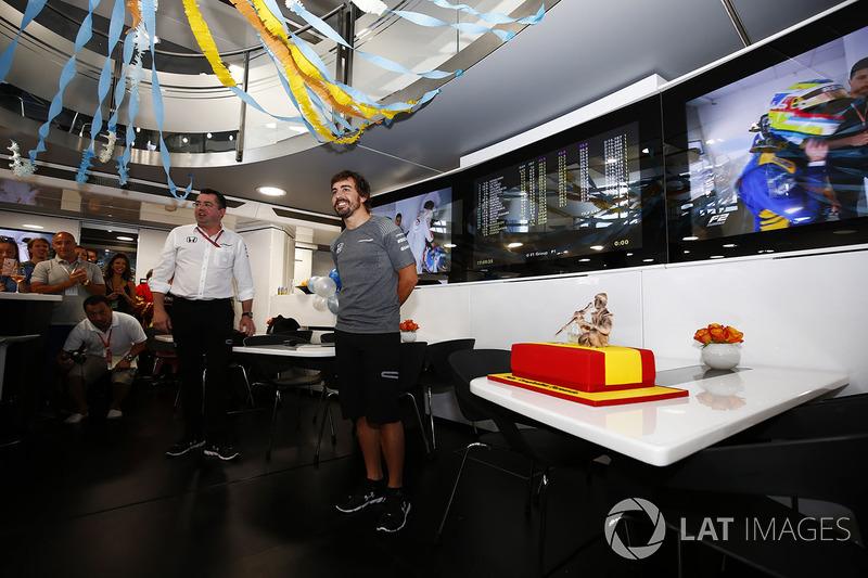 Fernando Alonso, McLaren, celebra su cumpleaños