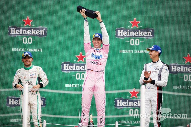 Podio: il vincitore della gara Michael Ammermüller, BWT Lechner Racing, il secondo classificato Ayhancan Güven, martinet by ALMERAS, il terzo classificato Jaxon Evans, FACH AUTO TECH