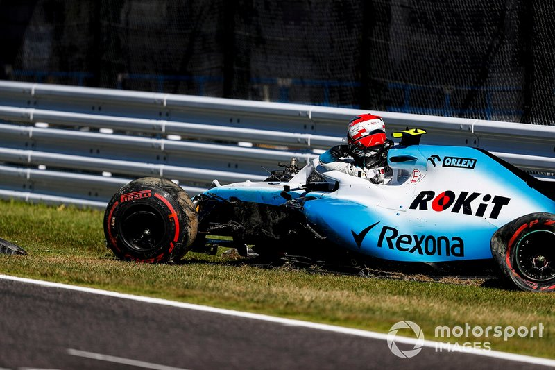 L'incidente di Robert Kubica, Williams FW42, in Q1