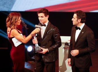 Lando Norris, McLaren, gana el premio al mejor piloto del año de la competición británica