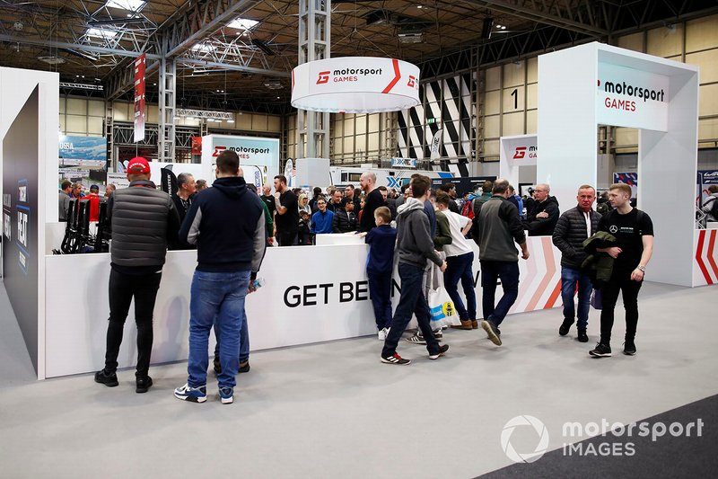 Fans at the Motorsport Games stand