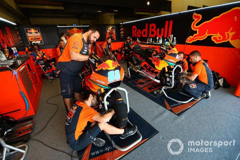 Red Bull KTM garage