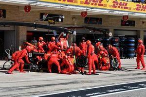 Charles Leclerc, Ferrari SF90, in the pits