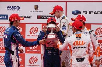 Podium: GT500 champions #6 Lexus Team LeMans Lexus LC500: Kazuya Oshima, Kenta Yamashita
