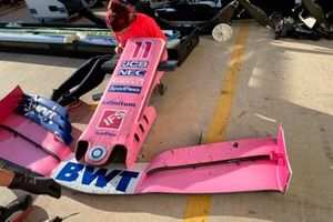 Front wing of Sergio Pérez, Racing Point RP19