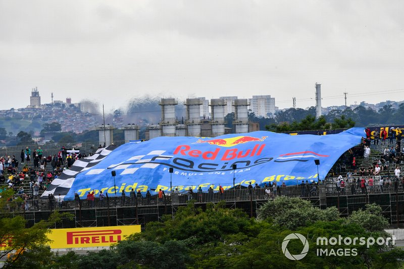 Crowd support for Red Bull Racing