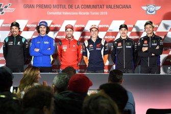Franco Morbidelli, Petronas Yamaha SRT, Alex Rins, Team Suzuki MotoGP, Andrea Dovizioso, Ducati Team, Marc Marquez, Repsol Honda Team, Maverick Vinales, Yamaha Factory Racing, Valentino Rossi, Yamaha Factory Racing